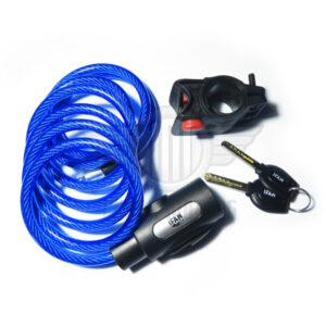 candado cable espiral acero bici moto